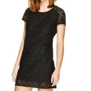 ◾️Aritzia Talula Black Scoop Neck Lace Dress